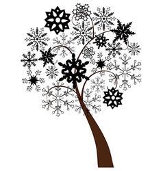 snow tree b vector image vector image