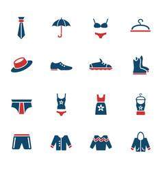 clothes icon set vector image vector image