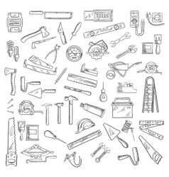 Construction tools and equipment objects vector image vector image