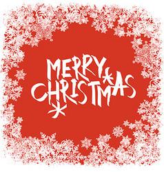 Merry Christmas greeting Snowflakes frame vector image