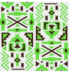 Seamless colorful aztec pattern White background vector image vector image