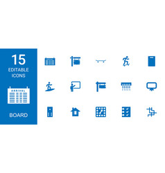 15 board icons vector