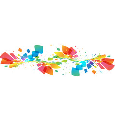 abstract multicolored wave on white vector image