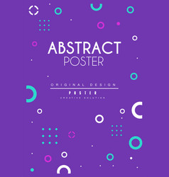 abstract poster bright creative graphic design vector image