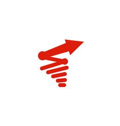 Abstract red arrow storm symbol logo vector