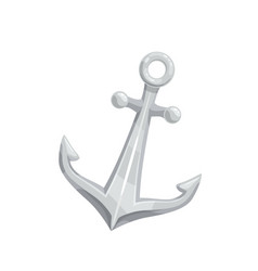 anchor icon maritime sea vector image