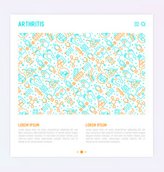arthritis concept with thin line icons vector image
