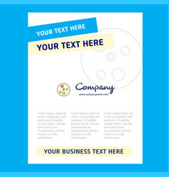 Bacteria plate title page design for company vector