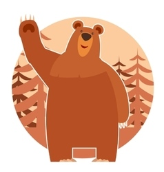 Bear in the forest vector image