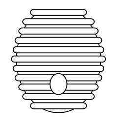 Beehive icon outline style vector
