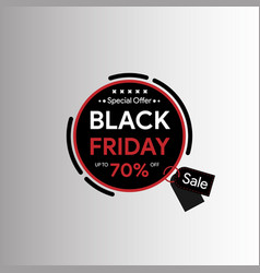 Black friday banner template vector