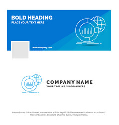blue business logo template for big chart data vector image
