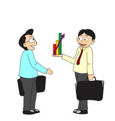 Business people discussing profit vector image