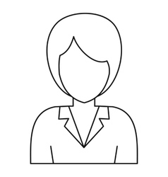Businesswoman avatar icon outline style vector image