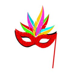 carnival mask with a pattern of mosaic bright vector image