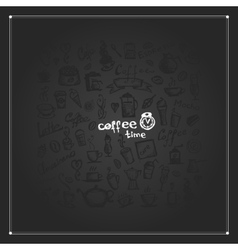 Coffee time frame for your design vector