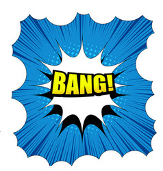 Comic bang template vector