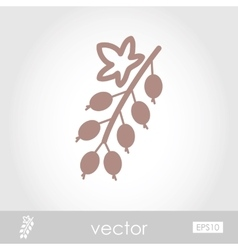Currant icon vector
