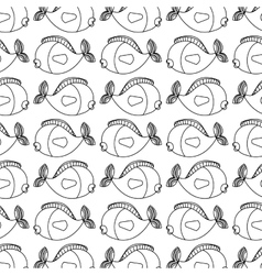Cute fish pattern isolated icon vector