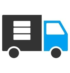 Data Transfer Van Flat Icon vector image