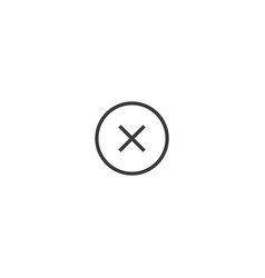 delete icon line style vector image