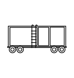 delivery container isolated icon vector image