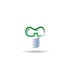 Dental implant logo template vector