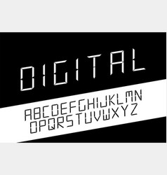 digital minimalistic font english alphabet vector image