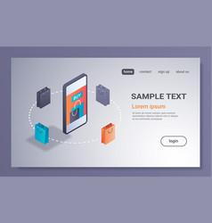 e-commerce sales mobile application online vector image