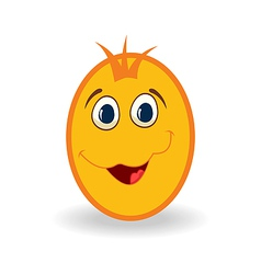easter egg character isolated on white background vector image