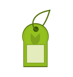 Ecology label tag vector