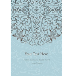 Elegant invitation cards vector image
