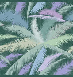 Floral pattern palm tree leaves nature spring vector