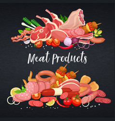 Gastronomic meat products vector