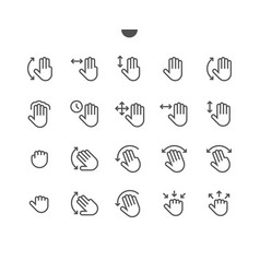 Gesture view outlined pixel perfect well-crafted vector