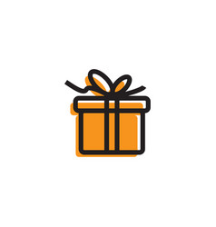 gift box icon template vector image