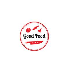good food logo design templategraphic knife vector image