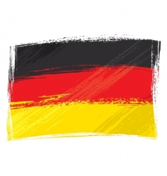 Grunge germany flag vector