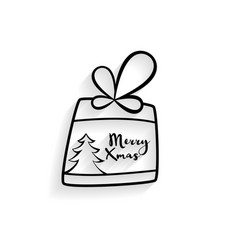 hand drawn christmas gift background vector image