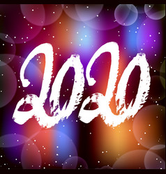 happy new year 2020 background decoration vector image