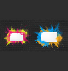 holi paint powder color explosion realistic vector image