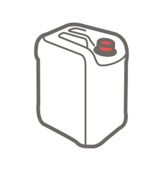 Icon of plastic canister vector