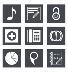 Icons for Web Design set 36 vector image