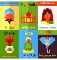India mini poster vector