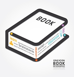 Infographics book design diagram line vector