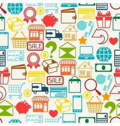 Internet shopping seamless pattern vector image