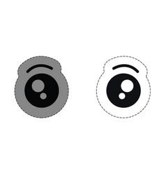 Kawaii eyes icon vector