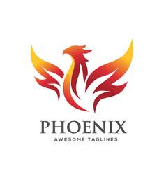 Luxury phoenix logo concept vector