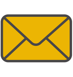 Mail envelope for email notification icon vector
