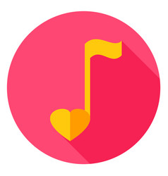 musical note circle icon vector image